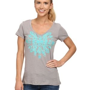 """Columbia """"Out and About"""" Graphic Short Sleeve Top"""